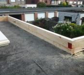Ophogen van het dak voor isolatie